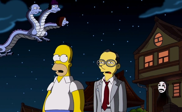 The Simpsons pay an inspired tribute to Hayao Miyazaki